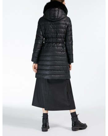 MAX MARA STUDIO - Norcia coat with hood - Black
