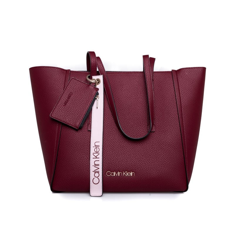 CALVIN KLEIN - Shopping Bag FRAME LARGE - Red Rock
