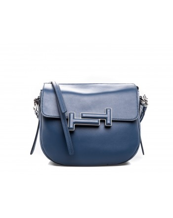 TOD'S - Leather Bag DOUBLE T  - Two tones
