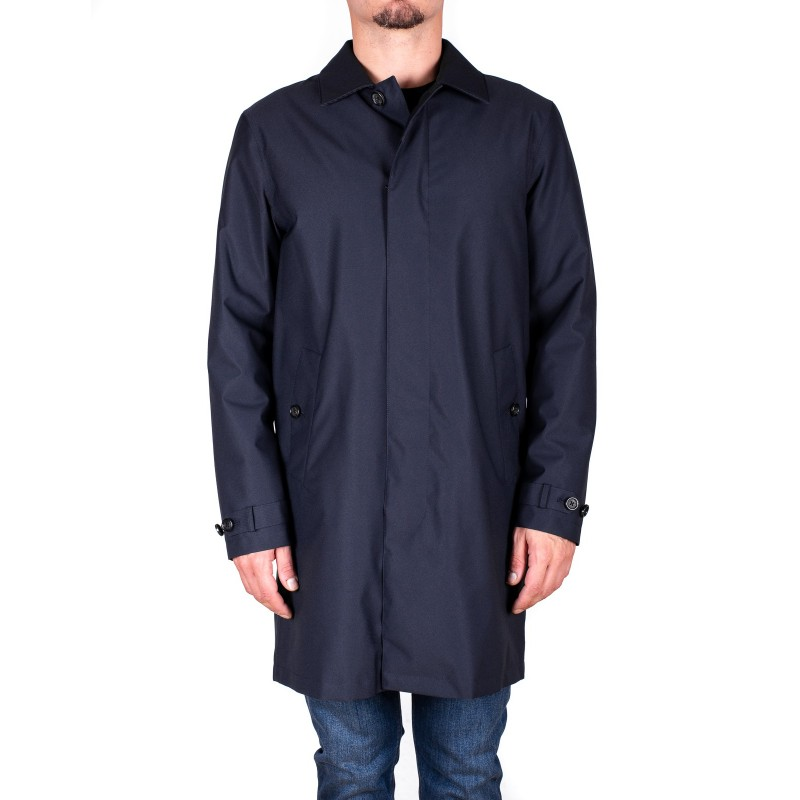 ERMENEGILDO ZEGNA - Trench Coat - Blue