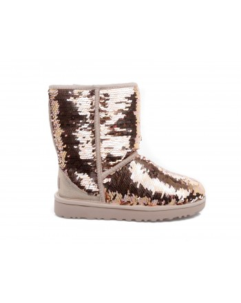 UGG - Stivali CLASSIC SHORT SEQUIN - Gold combo