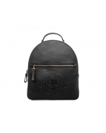 POLO RALPH LAUREN - Studded leather backpack - Black