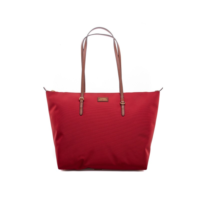 POLO RALPH LAUREN - Oxford Shopping Tote Bag - Red