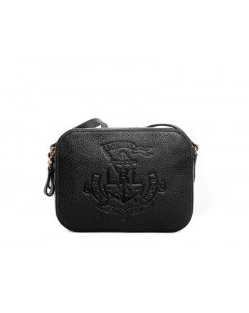 POLO RALPH LAUREN - Hammered leather bag - Black