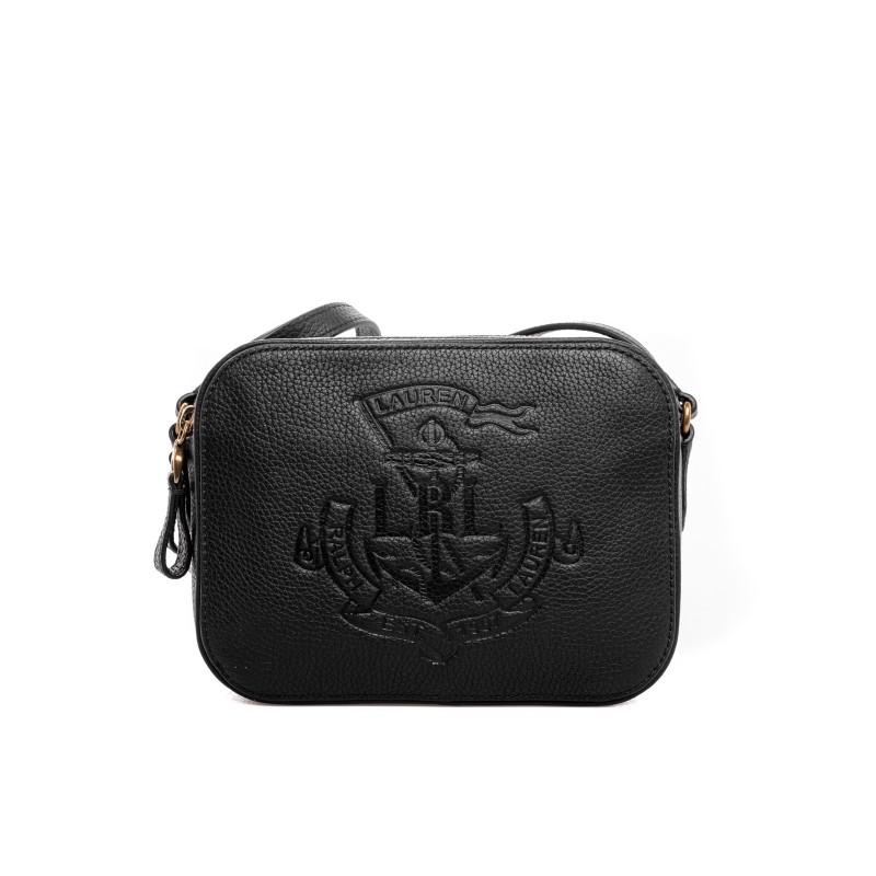 POLO RALPH LAUREN - Hammered leather bag - Black