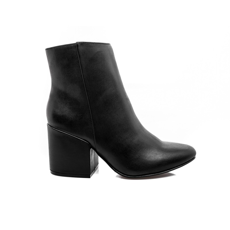 MADDEN GIRL - Short Leather boot with zipper - Black