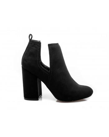 MADDEN GIRL - Ankle boots in faux leather with split detail - Black