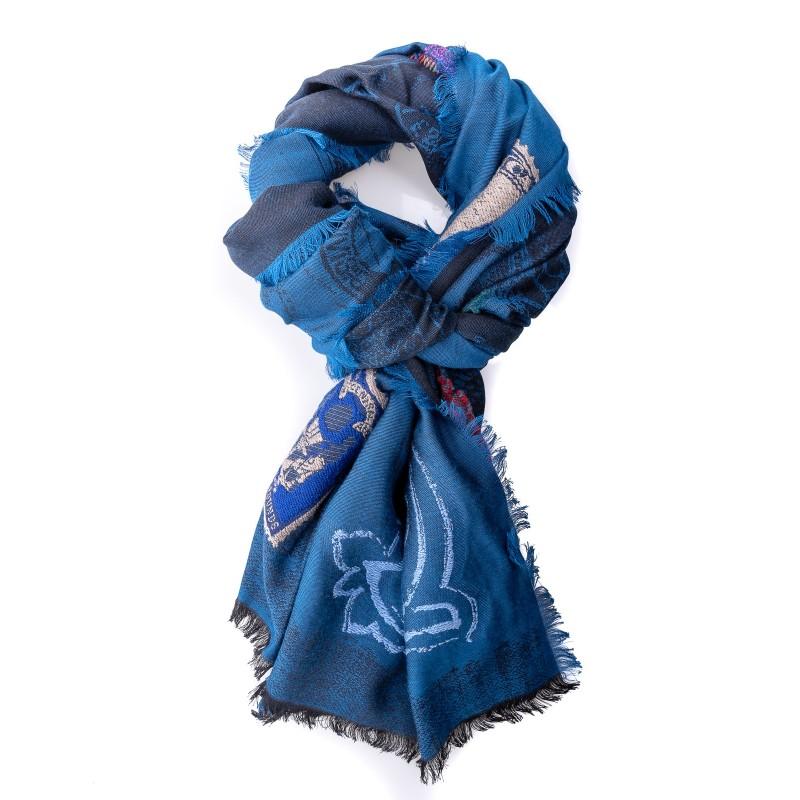 ETRO - Sciarpa in misto seta - Blu