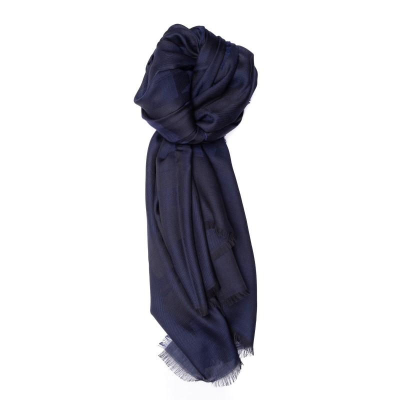 ERMENEGILDO ZEGNA - Silk Scarf - Blue