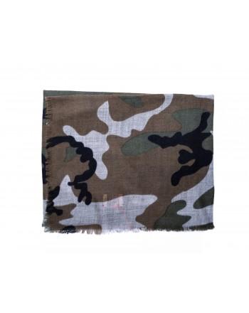 CAMERUCCI - Stola ORTENSIA Camouflage in pura Lana - Militare