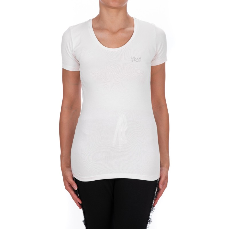 LIU-JO - BASIC Cotton T-Shirt - White
