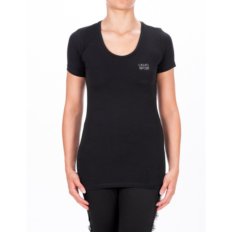 LIU-JO - BASIC Cotton T-Shirt - Black