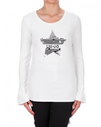 LIU- JO - ZAIRA cotton t-shirt - White