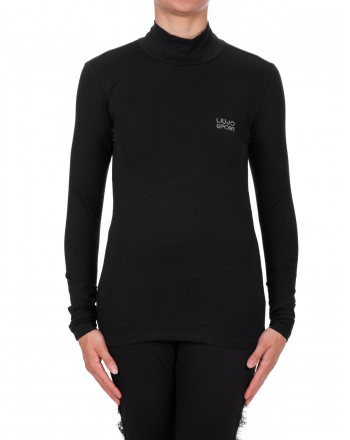 LIU-JO - BASIC Cotton Long Sleeve T-Shirt - Black