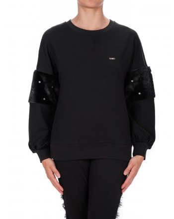 LIU-JO - BRIGITTA Sweatshirt in Cotton - Black