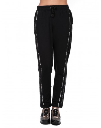 LIU-JO - AMBR cotton trousers with sequins  - Black