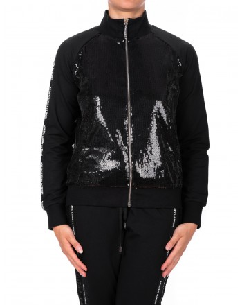 LIU- JO - Paillettes Zipper Fleece - Black