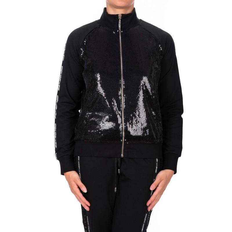 LIU- JO - Paillettes Zipper Fleece - Black