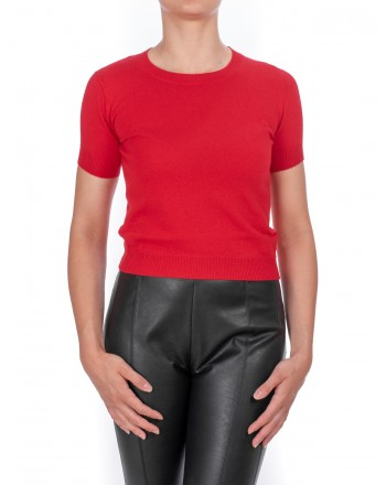 PINKO - Dugout sweater in mixed cashmere - Red