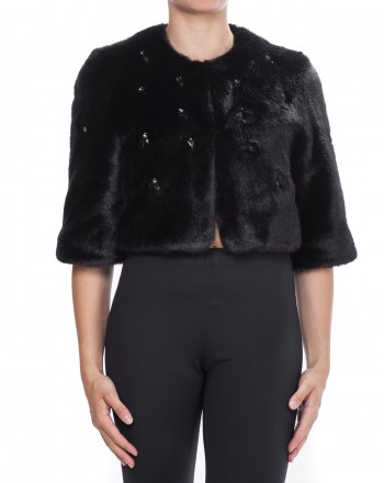 PINKO - Jacket in Ecofur - Black