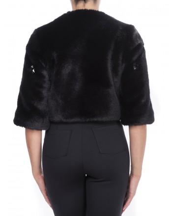 PINKO - Jacket in Ecofur - Black