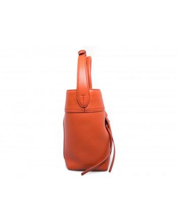 TOD'S - Borsa Shopping in pelle con doppia T - Arancio