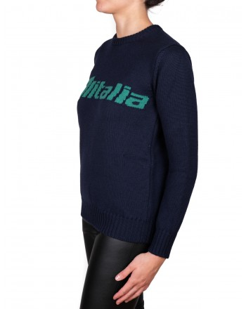ALBERTA FERRETTI - ALITALIA sweater in wool - Blue