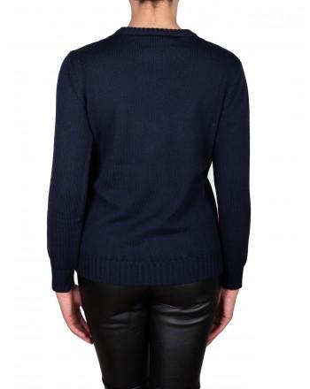 ALBERTA FERRETTI - ALITALIA sweater in wool - Blue