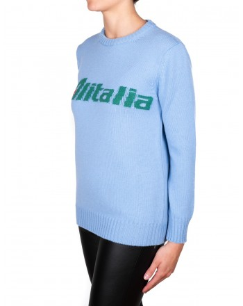 ALBERTA FERRETTI - ALITALIA sweater in wool - Light blue