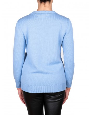 ALBERTA FERRETTI - ALITALIA sweater in wool - Light blue