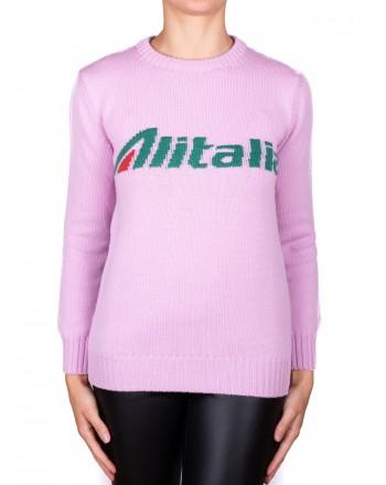 ALBERTA FERRETTI - Pullover ALITALIA in lana - Rosa