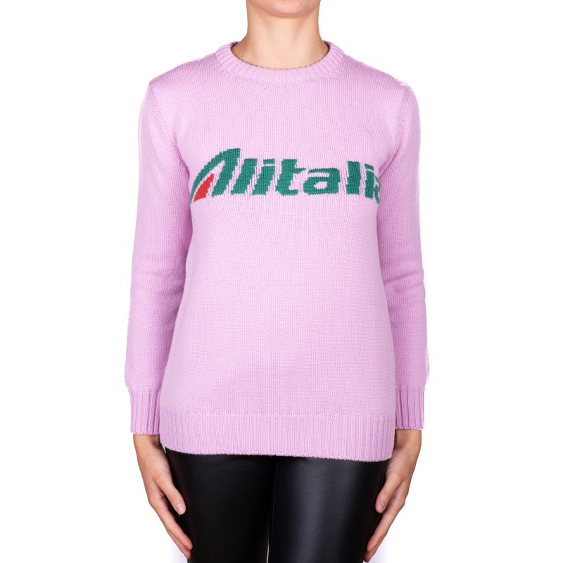ALBERTA FERRETTI - ALITALIA sweater in wool - Pink