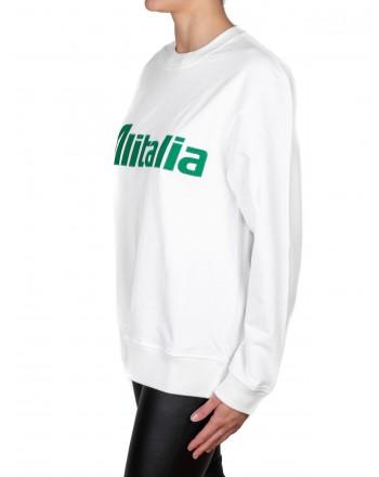 ALBERTA FERRETTI - Felpa in cotone ALITALIA - Bianco