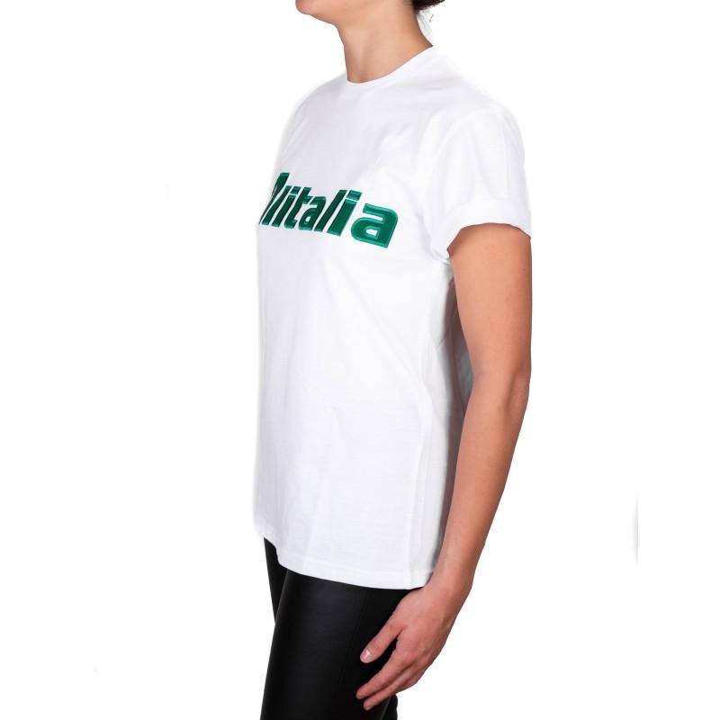 ALBERTA FERRETTI -  T-shirt in jersey cotone ALITALIA - Bianco