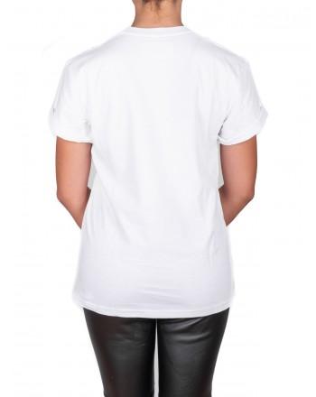 ALBERTA FERRETTI -  Cotton jersey T-shirt with ALITALIA logo - White