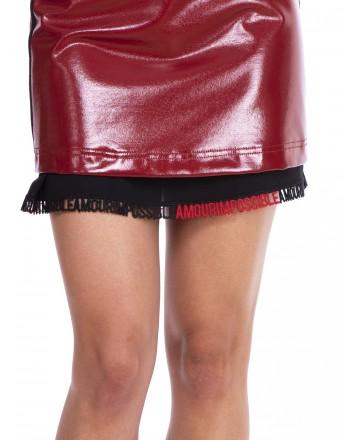 PINKO - Patent leather Miniskirt  - Red