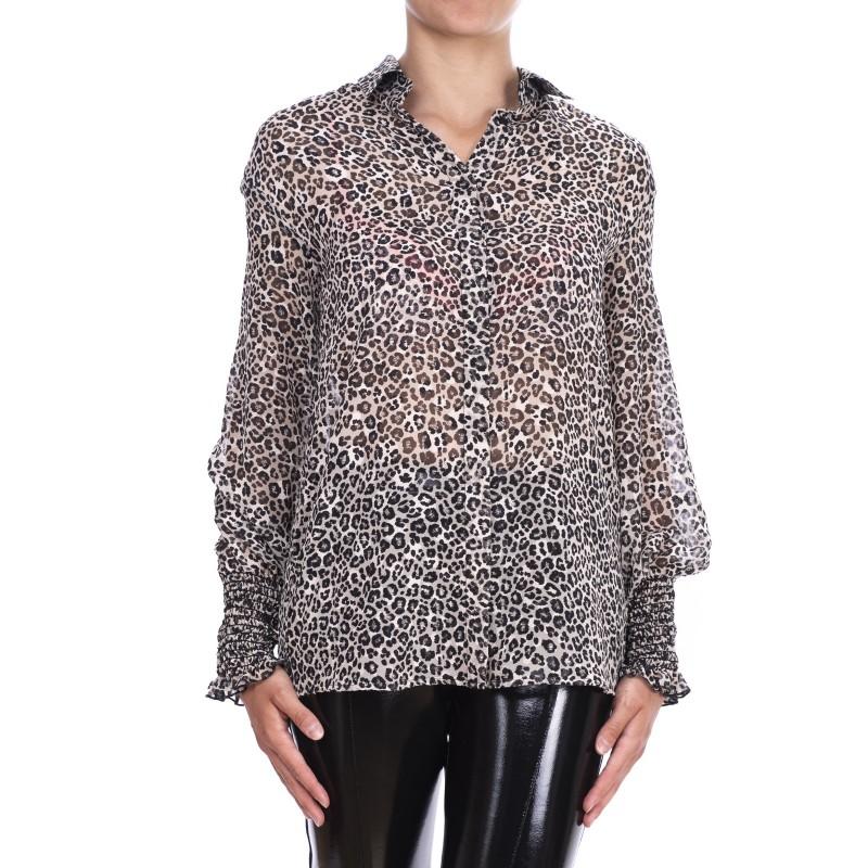 PINKO - ALBERTO Animalier Print Shirt - White/Black