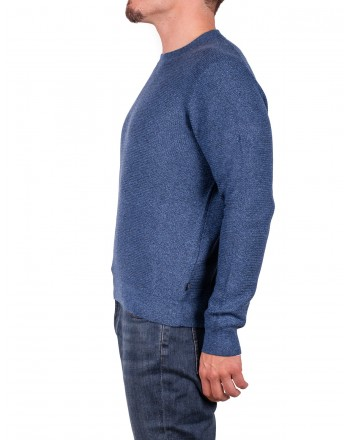 MICHAEL di MICHAEL KORS - Cotton and Merino wool jersey - Ocean Blue Moulinex