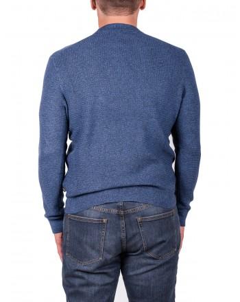 MICHAEL di MICHAEL KORS - Cotton and Merino wool jersey - Ocean Blue Moulinex