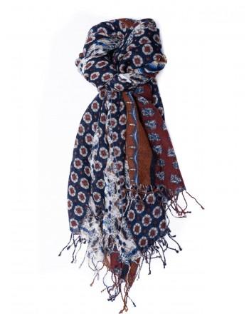 CAMERUCCI - Stola MAIOLICA in lana - Blu