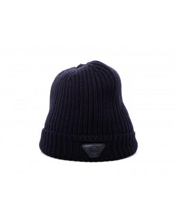 EMPORIO ARMANI - Cappello in lana - Blu