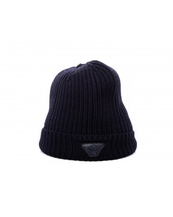 EMPORIO ARMANI - Wool hat - Blue