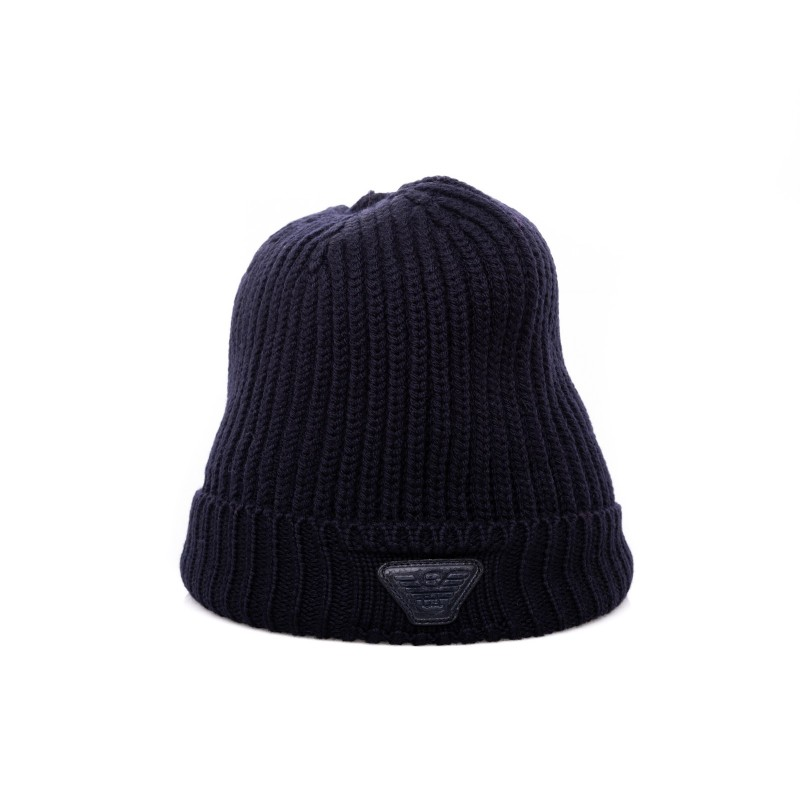EMPORIO ARMANI - Wool hat - Blue