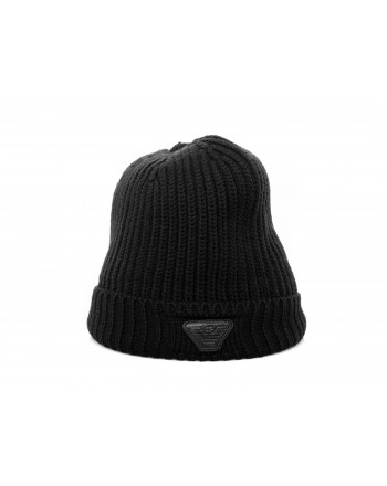EMPORIO ARMANI - Wool hat - Black