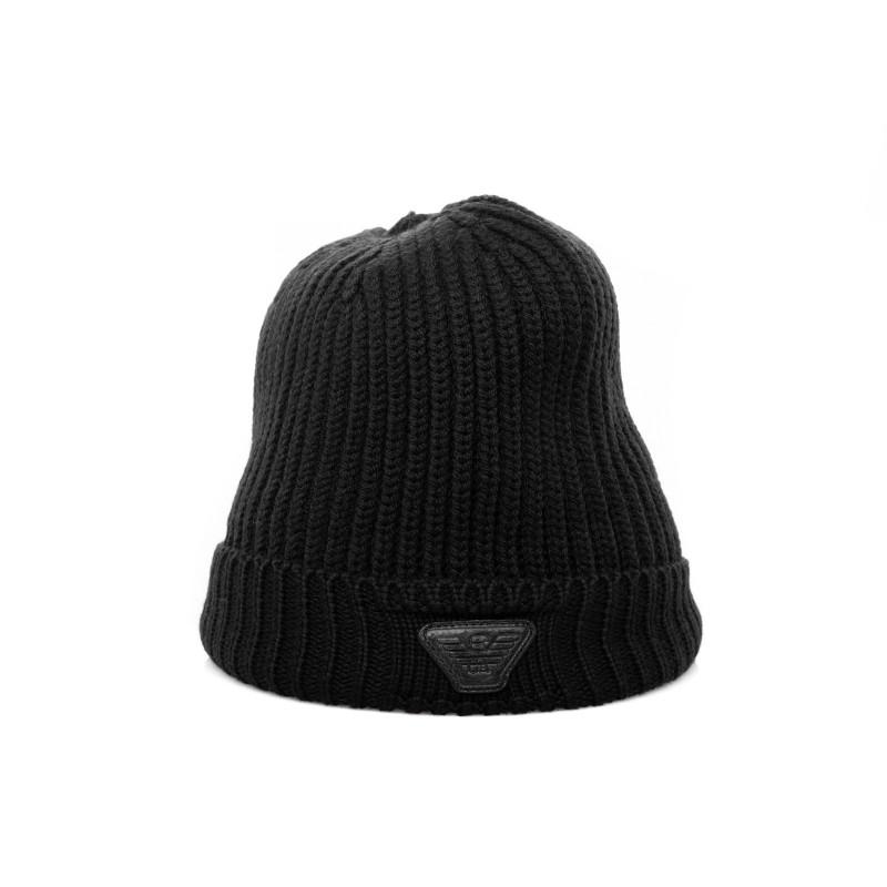 EMPORIO ARMANI - Wool hat - Black