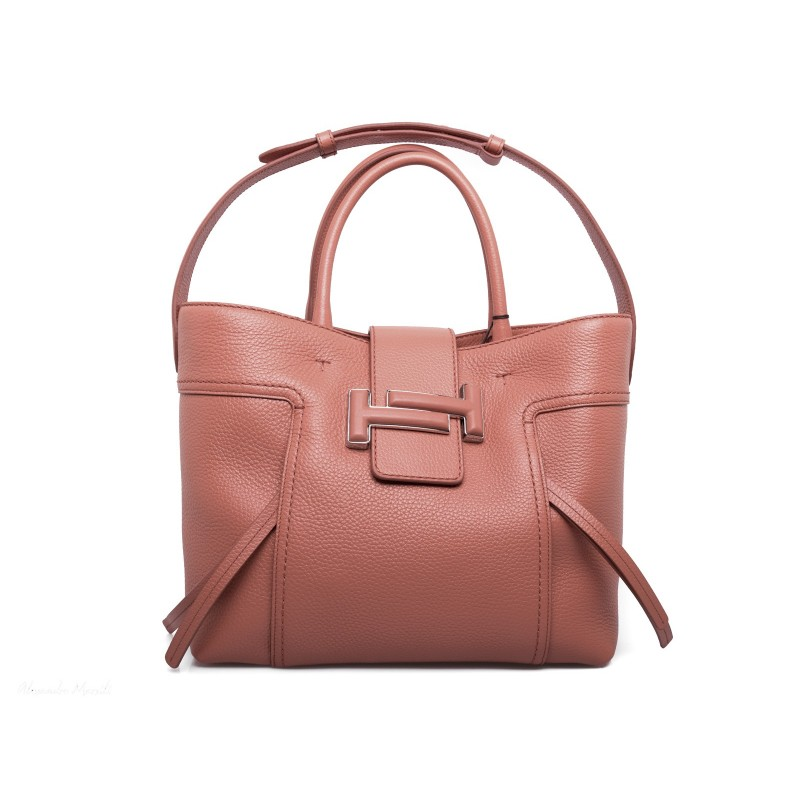TOD'S - Leather Shopping Bag with double T - Leather