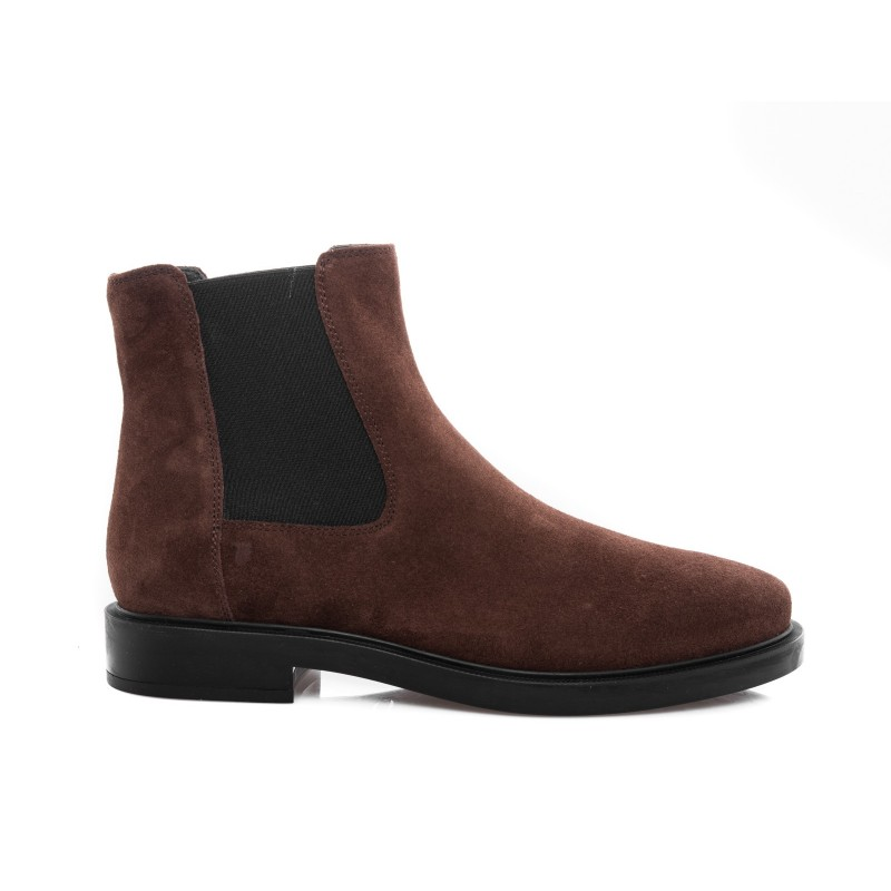 TOD'S - Suede Leather Half Boots - Brown