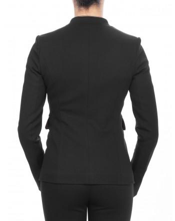 PINKO - Fabric stitch jacket with lining - Black