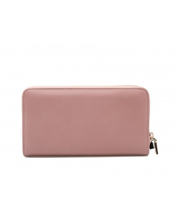 LOVE MOSCHINO - Zip Around Wallet with Peace and Love Patches - Pink