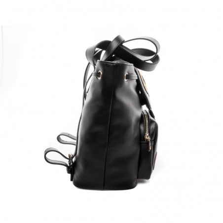 4e95126d7f Ecoleather Front Zipper Pocket Flap Closure Front Patches Size: 38x30x20.  Colour: Black